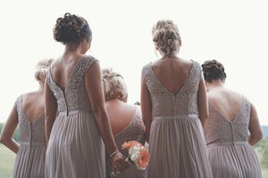 Bridesmaids from behind
