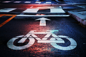 Bicycle street symbol
