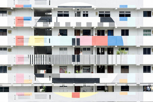 Building with colorful balconies