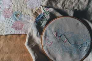 Decorative  embroidery in process