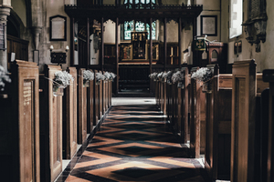 Walking down the curch aisle