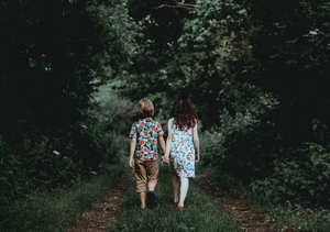 Boy and girl in nature
