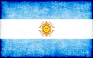 Argentine flag with grunge overlay
