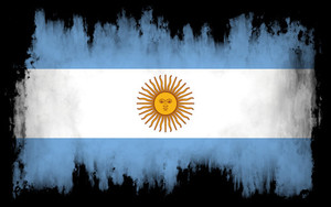 Flag of Argentina with burn effect