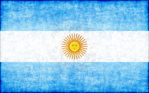 Argentine flag with texture overlay