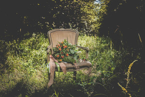 Retro chair with bouquet