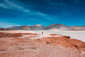 Man in Atacama Desert, Chile