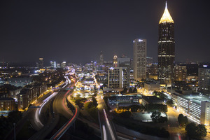 Atlanta city in the night