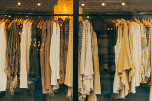Clothes in window