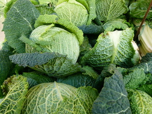 Cabbage on the market