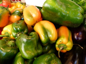 Yellow and green peppers