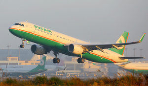 Eva Air plane take off