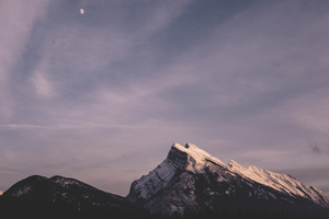 Moon over Banff