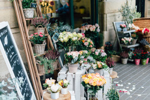 Flower shop in Barcelona