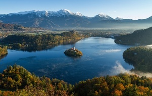 Bled lake and mountains