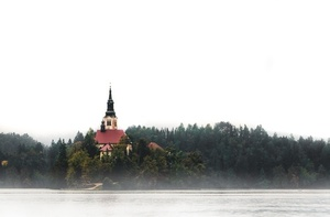Fog over Bled