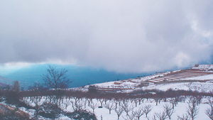 Snow-covered Bloudan, Syria