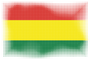 Flag of Bolivia with halftone effect