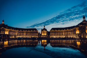 Great building in Bordeaux, France