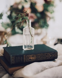 Bottle and book