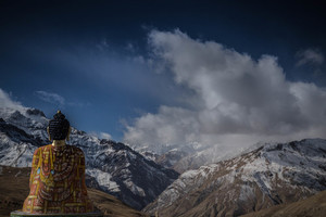 Buddha's statue in mountains