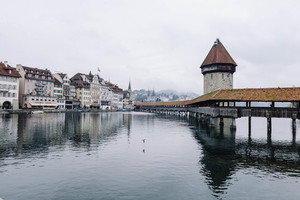 Buildings on a lakeside in Lucerne