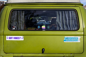 Bumpersticker VW van