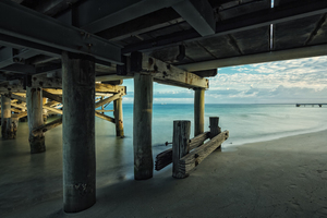 Under pier of Busselton Jetty