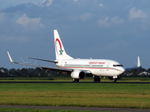 Royal Air Maroc Boeing 737 at Schiphol