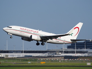 Royal Air Maroc Boeing 737 at Schiphol, Amsterdam