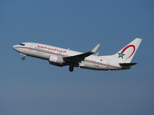 Royal Air Maroc Boeing 737 in aria