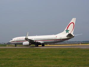 Royal Air Maroc airplane on runway