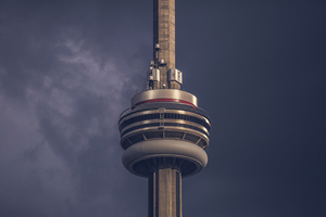 CN Tower, ao entardecer
