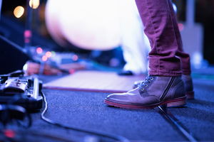 Musician's feet on stage