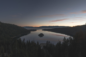 Calm lake at Emerald Bay