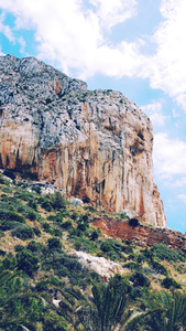 Cliffs in Calp, Spain