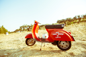 Motorcycle with love message