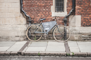 Bike on a brick wall