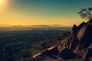 View from Camelback Mountain, Phoenix, US