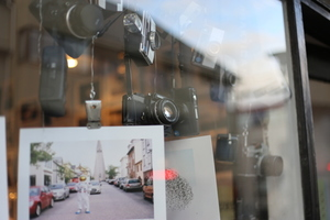 Cameras in window display