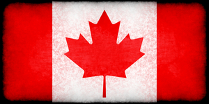 Canadian flag with texture