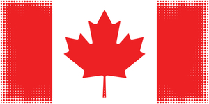Flag of Canada halftone texture