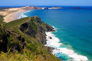 Beautiful green Cape Reinga, New Zealand