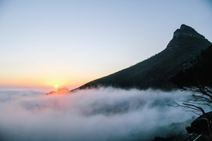 Cape Town foggy sunset