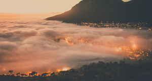 Cape Town in clouds