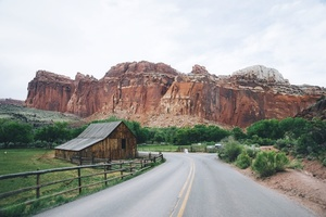 Road to Capitol Reef National Park