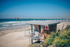 Lifeguard's station in the beach