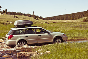 Car in Bighorn mountains