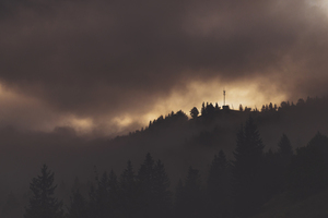 Carpathian Mountains in storm