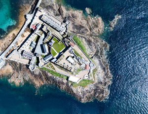 Castle Cornet in Guernsey from above